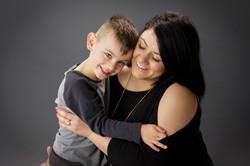 gorgeous mum and son portrait