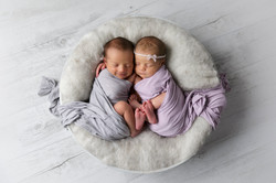 twins in basket