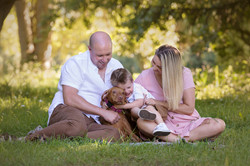 Outdoor Family Photos with Pets