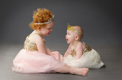 sisters in ballerina dresses