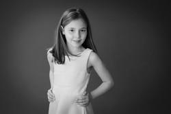 child portrait black and white