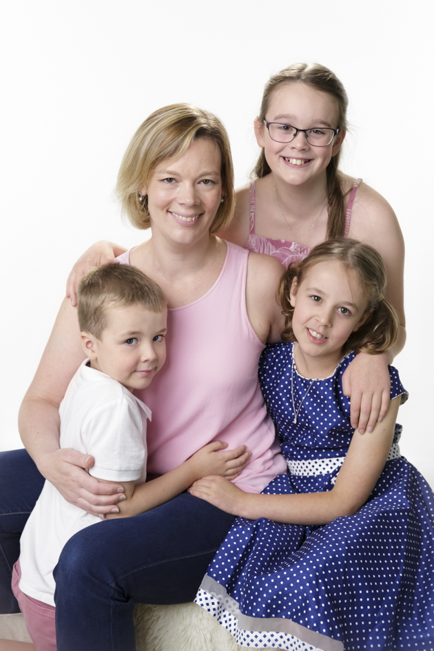Mother and children professional photo