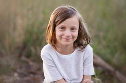 sunset child portrait