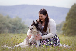dog photos with beautiful scenery