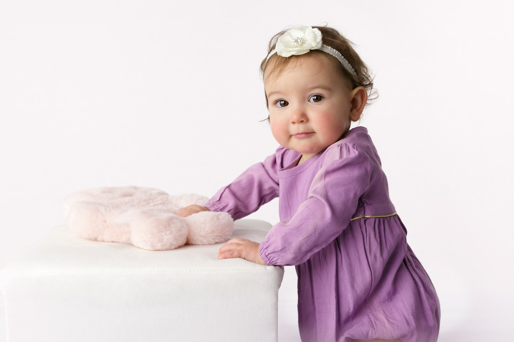 pretty girl in purple