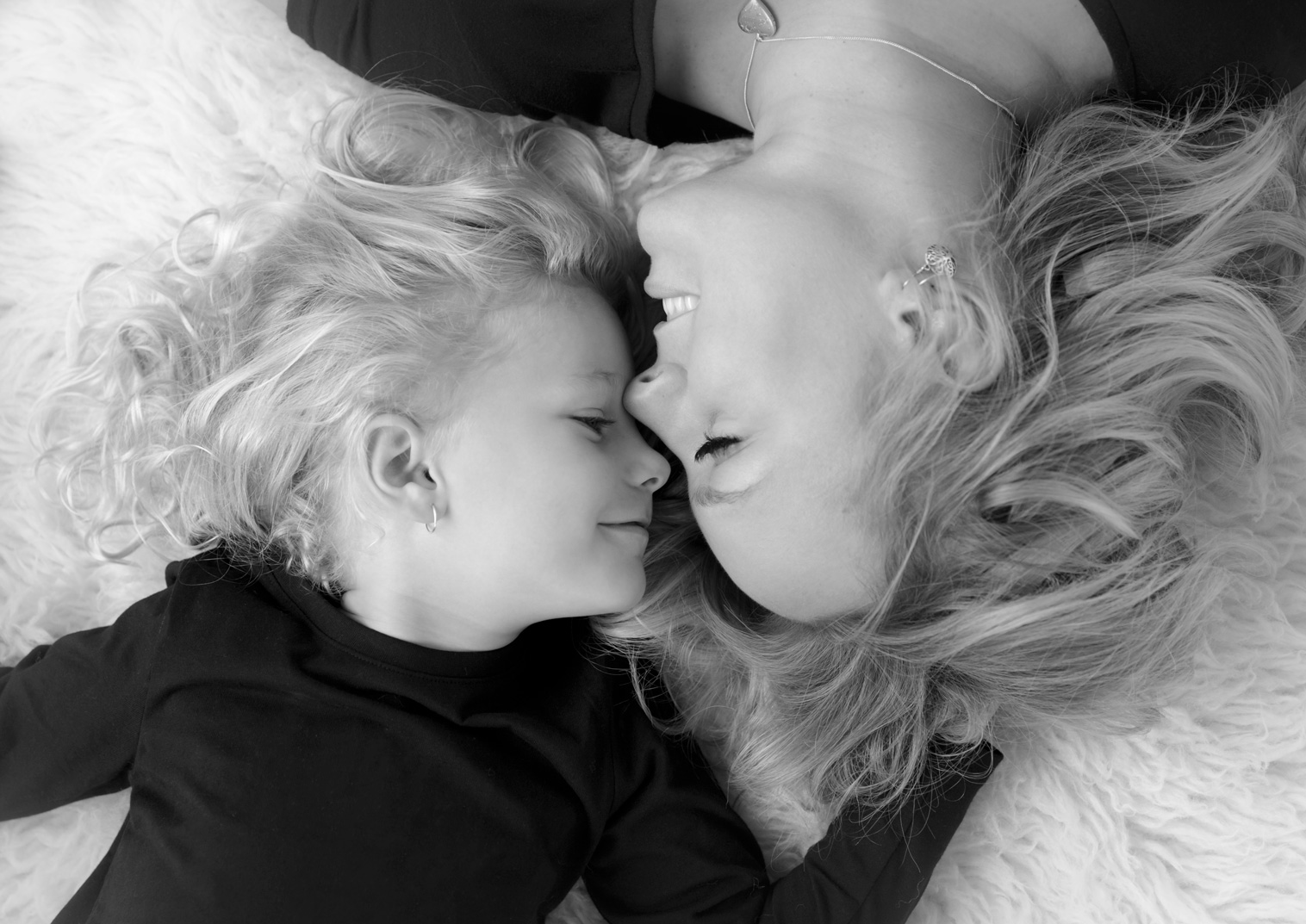 unique mother and daughter portrait