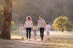 family walking portrait