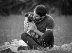 pug and his owner