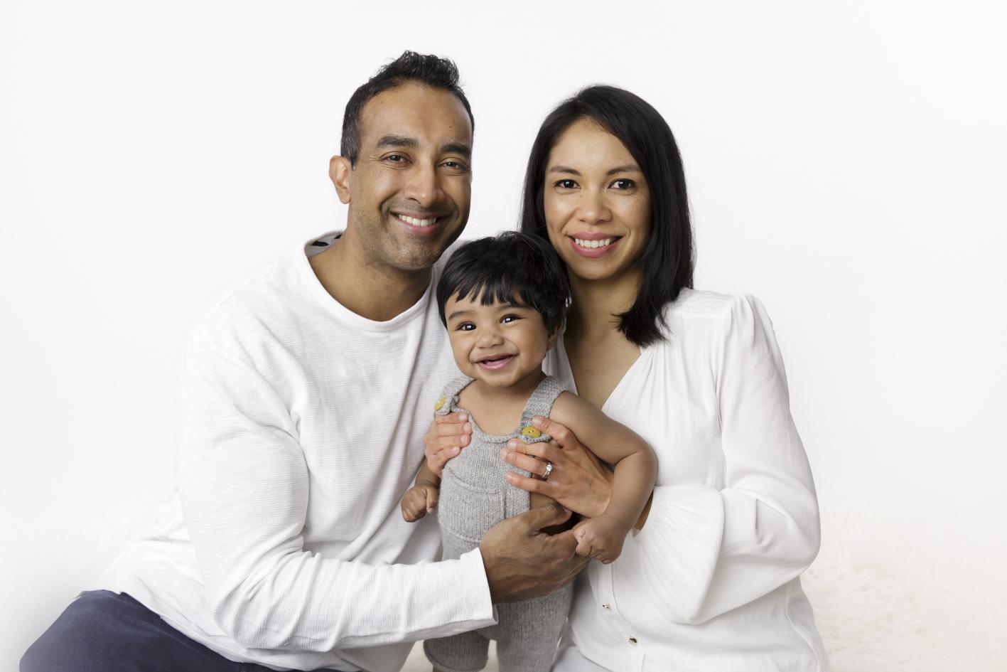 happy family photo with baby boy