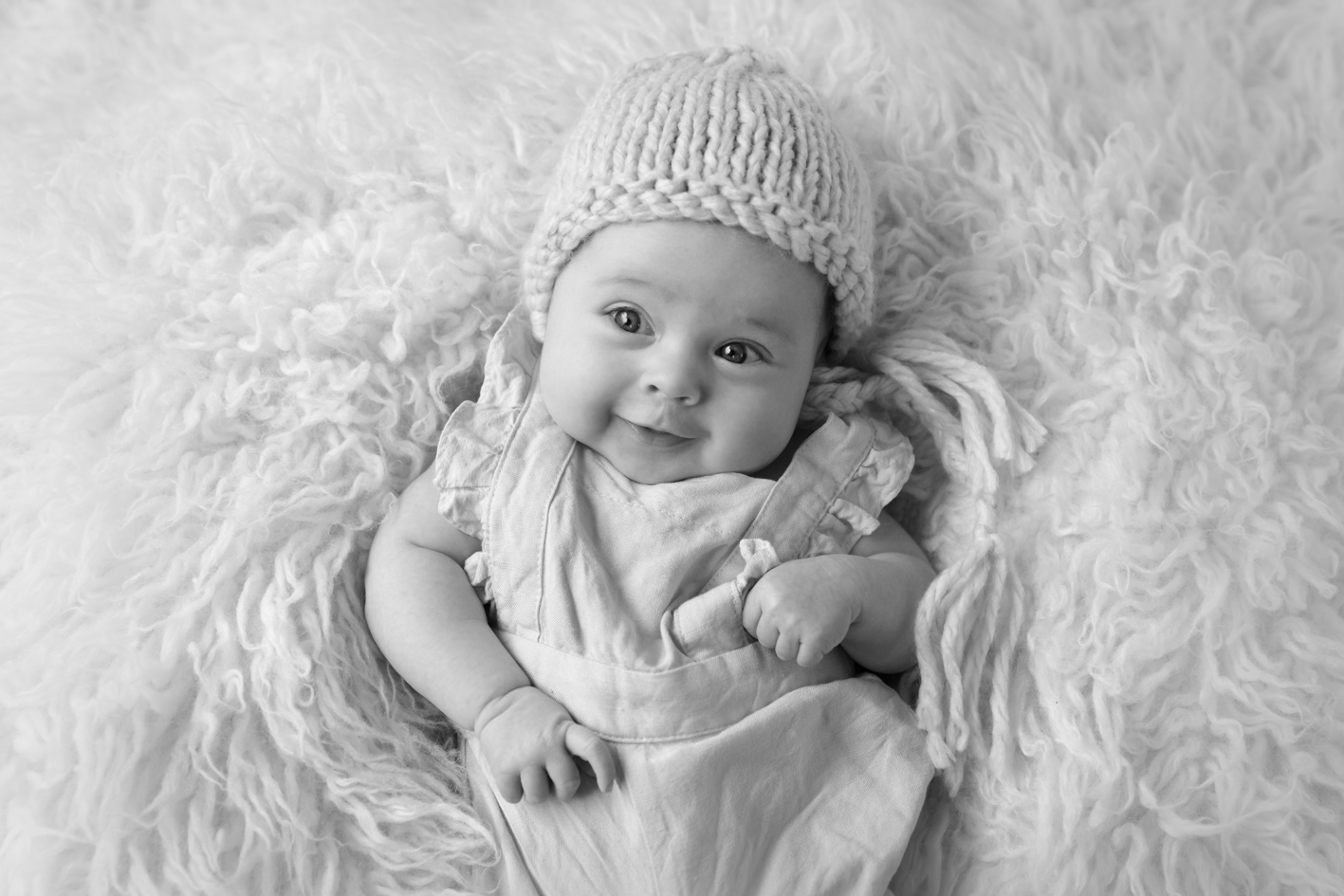 baby girl in cute beanie