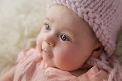 close up baby eyes