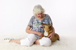 dog portrait with owner