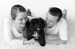 commitment puppy family portrait
