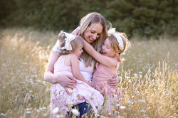 Mum and daughters Spring time