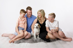 family with their dog portrait