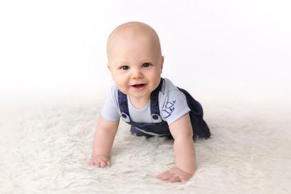 baby crawling portrait
