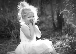 natural toddler outdoor portrait
