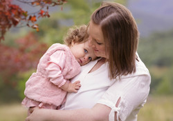 mother and daughter outdoor autumn