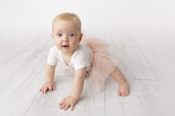 8 month baby girl in tutu