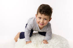 cheeky toddler portrait