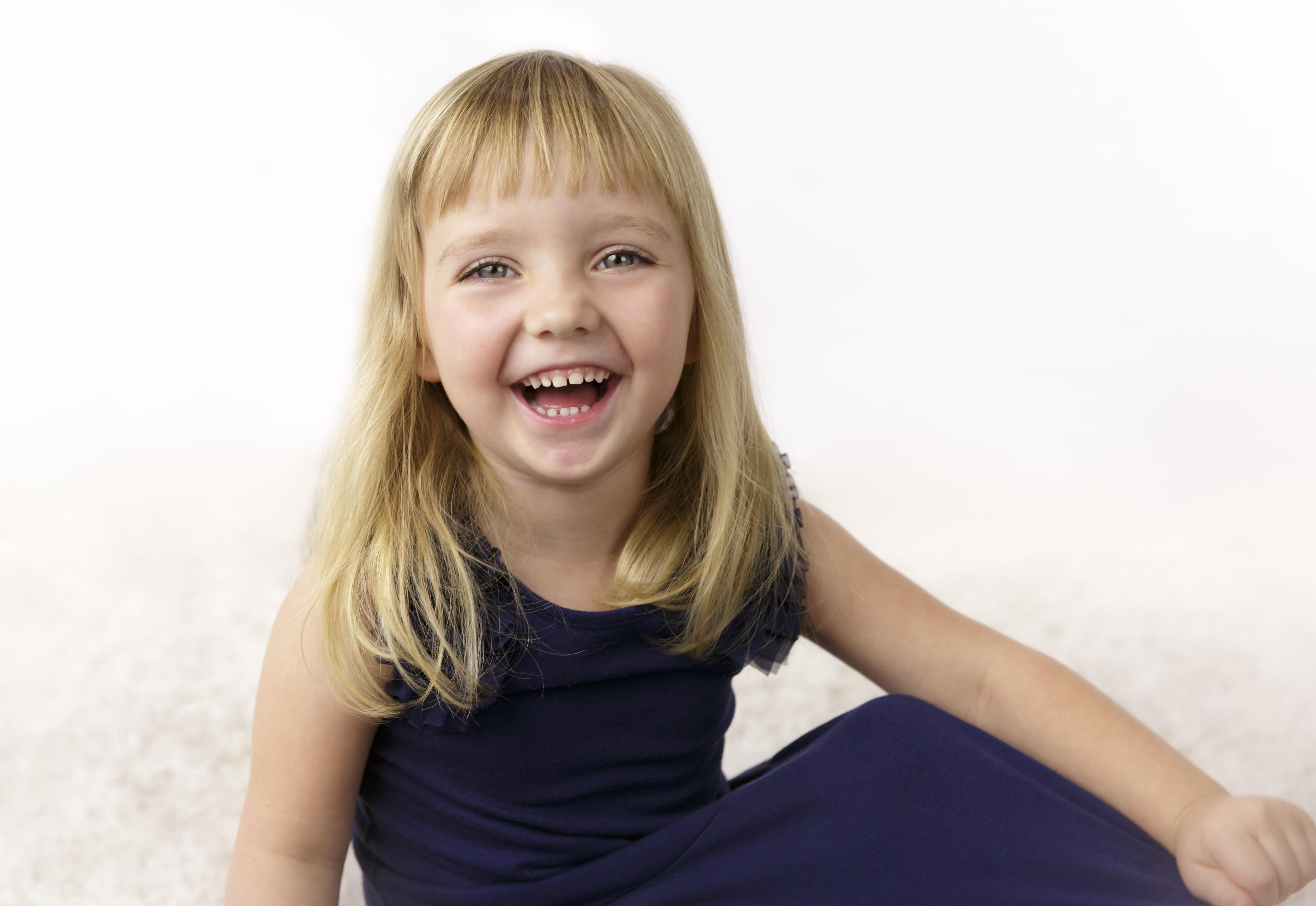 laughing girl natural photo