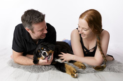 couple photo shoot with dog