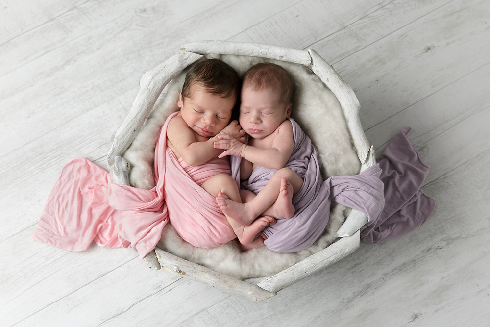 twin baby girls, newborn photography Melbourne