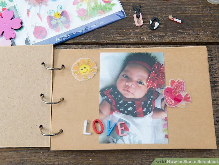 scrapbooking with baby photos Melbourne