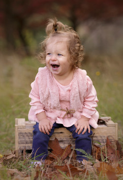 laughing toddler outdoor
