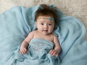 Baby Ellie in blue!