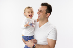 fun father and son photo