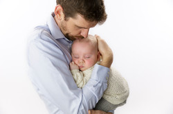 father with son sleeping