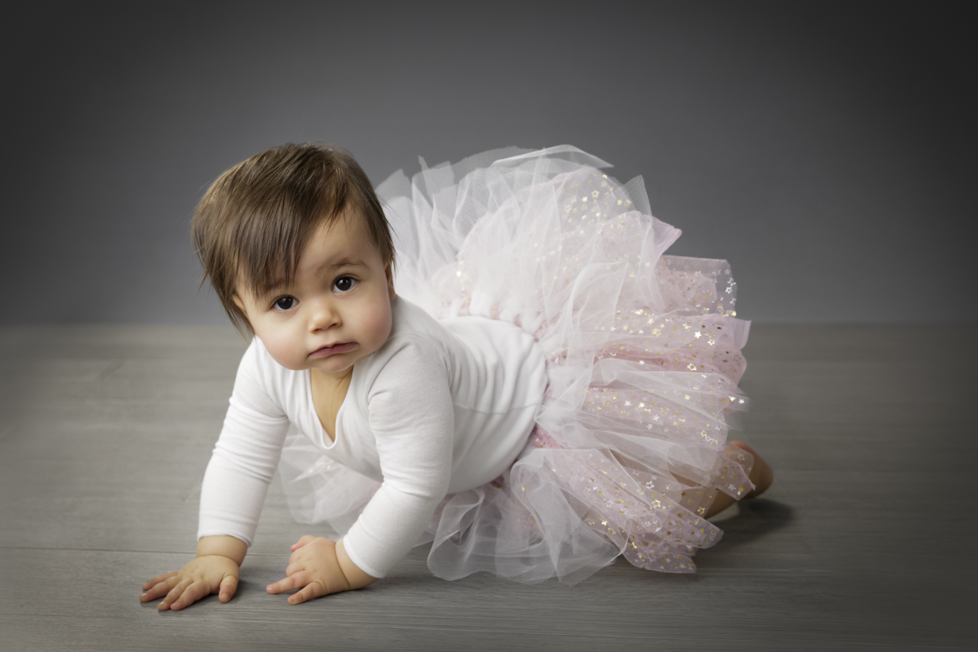 gorgeous baby girl in tutu