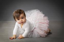 gorgeous baby girl in tutu