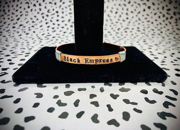 BLACK EMPRESS Metal Stamp bracelet