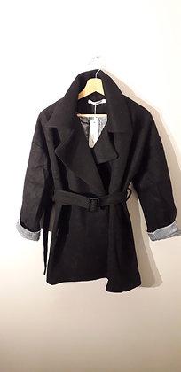 Manteau en laine mélangé noir