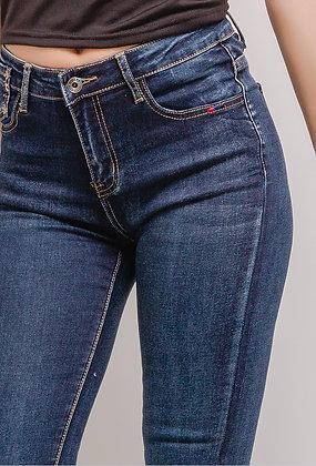 Jean skinny avec broderie poche
