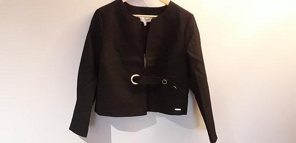 Veste gaufrée noire PHILADELPHIE