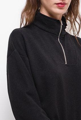 Sweat noir avec zip