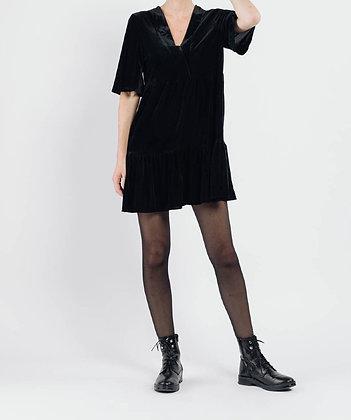Robe velours noire