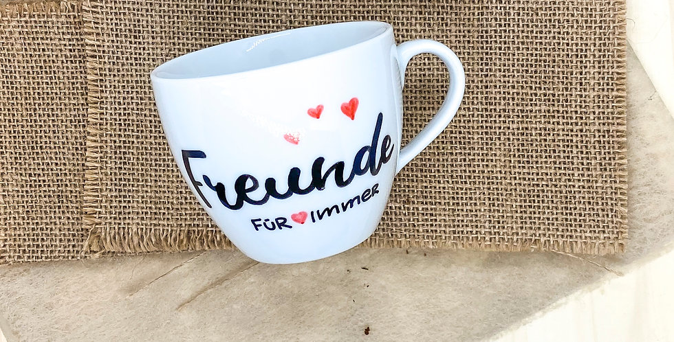 Tasse M «Freunde für immer»