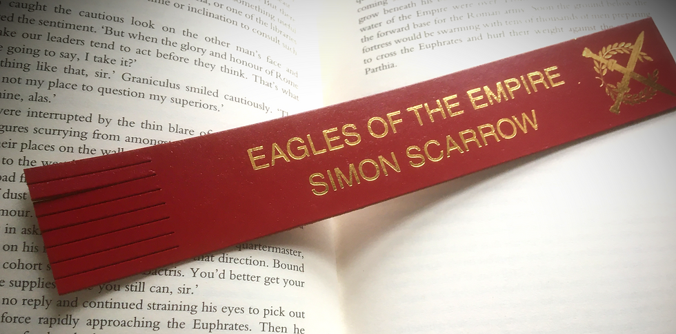 EAGLES OF THE EMPIRE leather bookmark - signed
