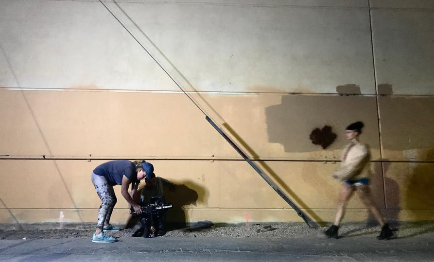 Dark Lights - Filming in back alley