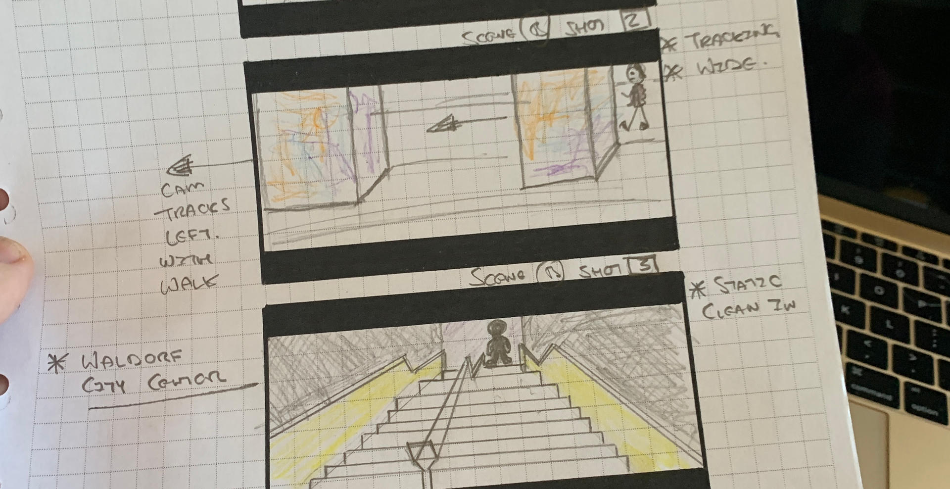 Dark Lights - Storyboards