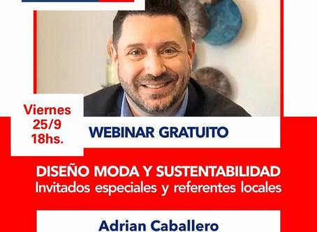 Diseño Moda y Sustentabilidad - Webinar Gratuito - Viernes 25/9 18 hs
