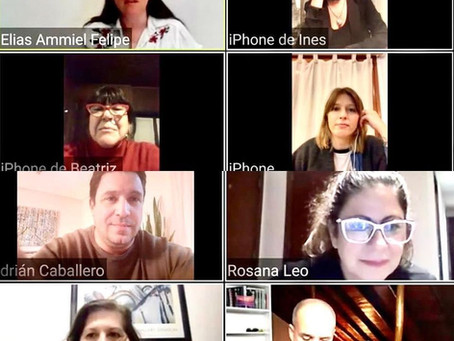 Reunión de Diseñadores Marplatenses por Zoom para elaboración de última etapa de protocolos