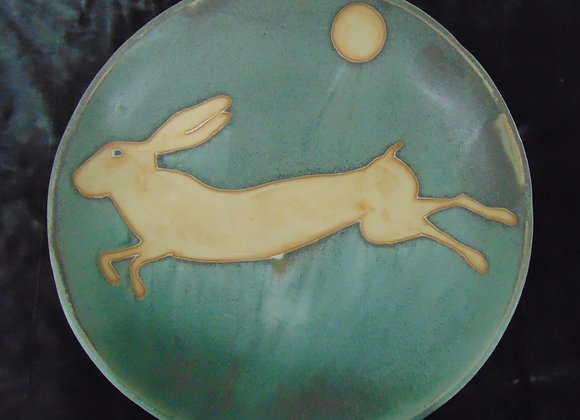Large Stoneware Bowl - Hare by Moonlight