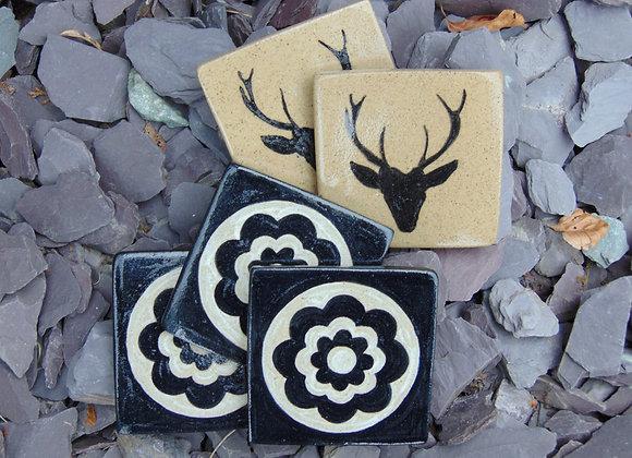 Stoneware Tile Coasters