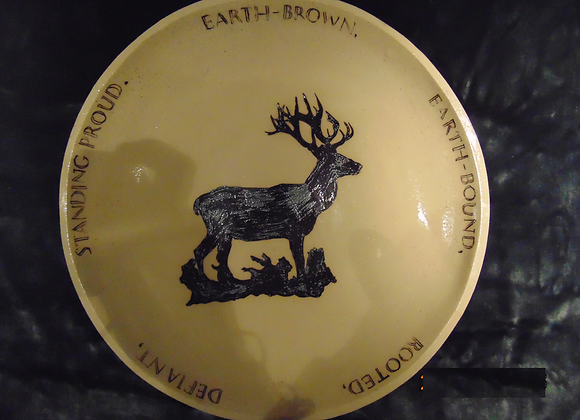 Large Stoneware Bowl - Stag