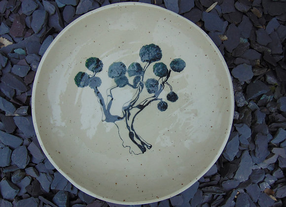 Large Stoneware Bowl - Olive Tree